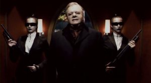 Paul Sorvino and his shotgun-wielding ninja chick bodyguards.