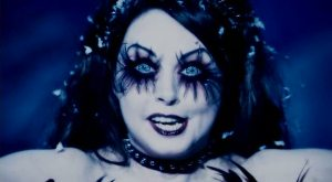 Sarah Brightman definitely has some bitchin' pipes.  And she's kinda sexy, in that scary way.  She probably a goddamn witch in real life.